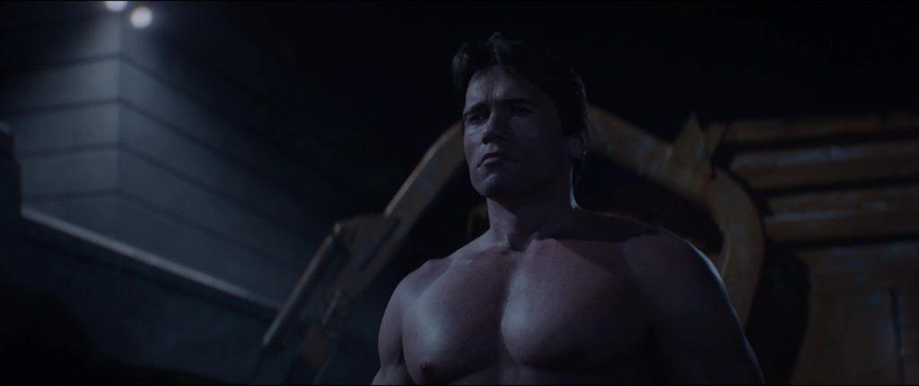 Arnold Schwarzenegger nude in Terminator Genisys